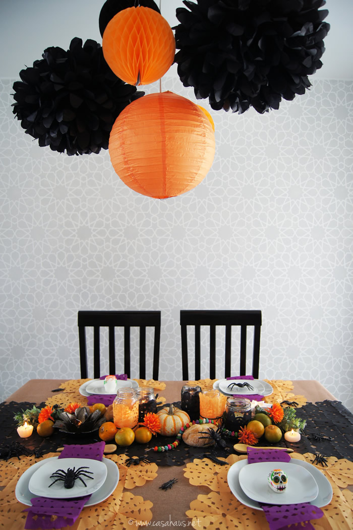 Decoracion mesa halloween finest decoracin con araas para for Decoracion mesa halloween