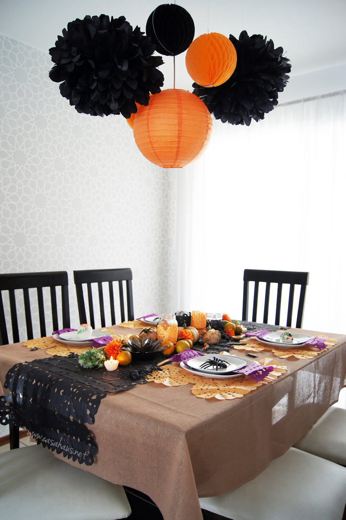 Mesa de halloween y d a de muertos casa haus decoraci n for Decoracion mesa halloween