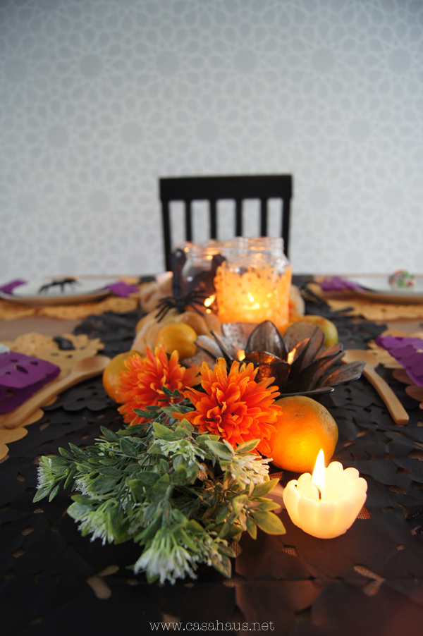 Halloween and Day of Dead tablesetting // Mesa de Halloween y Día de Muertos // Casa Haus