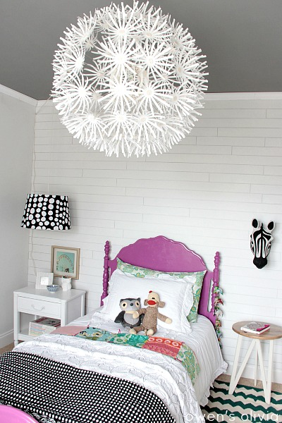 girls bedroom gray and pink