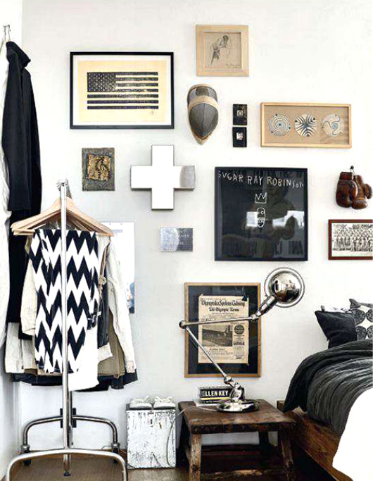 Black, white, and wood bedroom // Dormitorio blanco, negro y café // Casa Haus