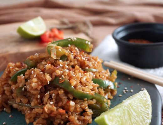 Thai fried brown rice recipe | Arroz integral estilo Thai | casahaus.net