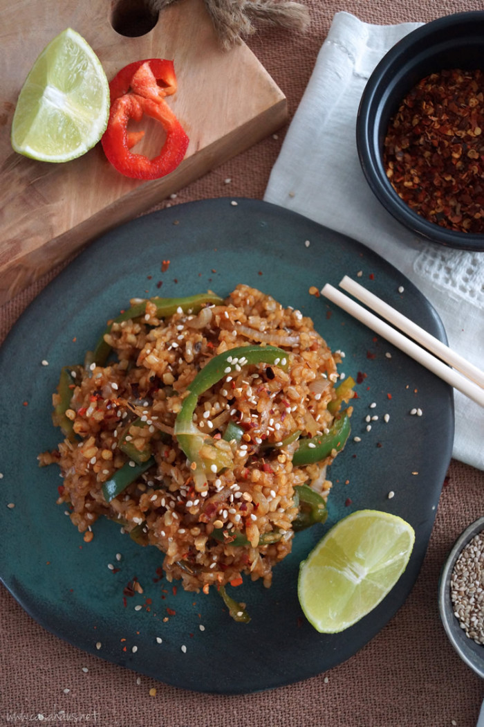 Thai brown rice recipe | Arroz integral estilo Thai | casahaus.net