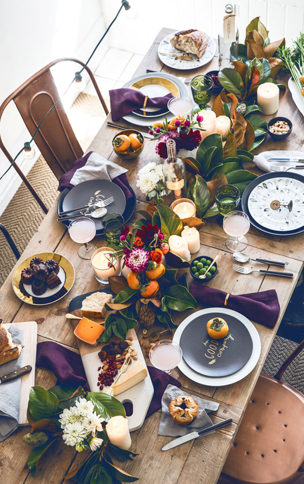 Fall tablesetting / Hermosa mesa otoñal // casahaus.net