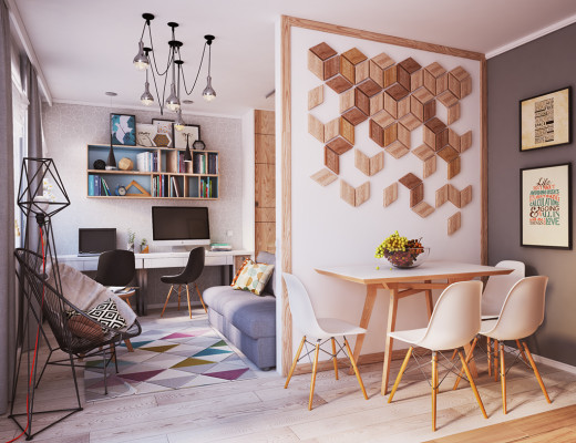 Tiny apartment, huge style // hermoso departamento en 40 m2 // casahaus.net