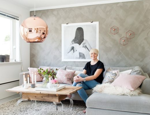 Gorgeous Nordic home with rose quartz touches / Hermoso hogar nórdico con toques en rosa cuarzo / casahaus.net