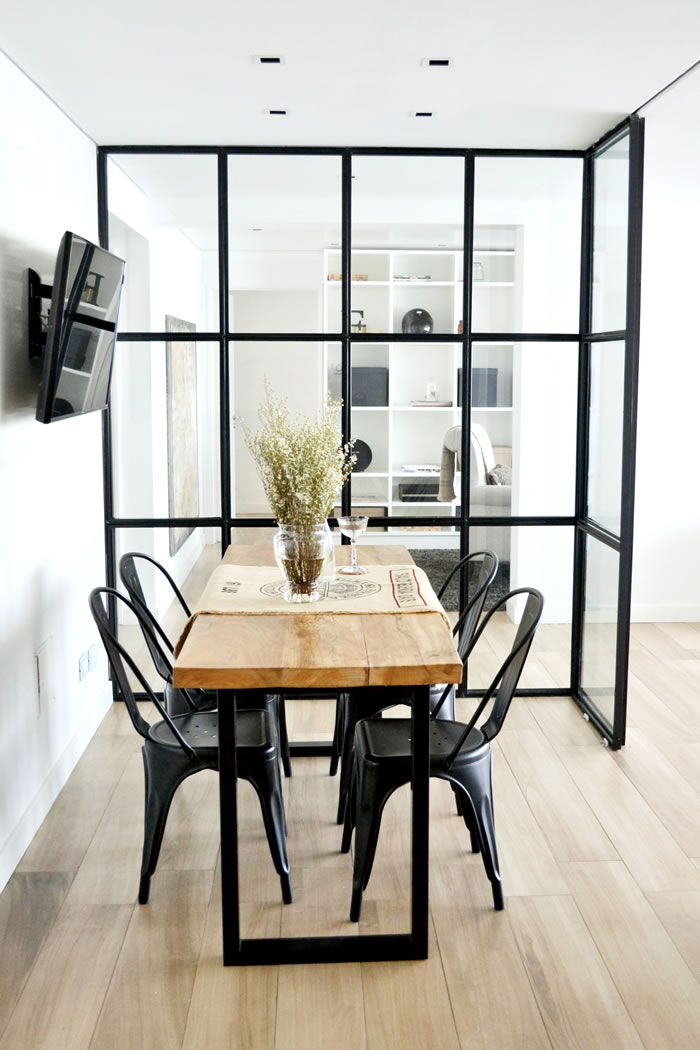 Haus tour hermoso departamento estilo french industrial for Decoracion industrial