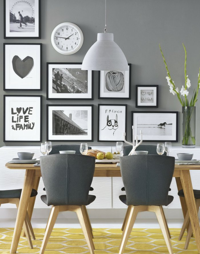 15 ideas para decorar las paredes de tu comedor Casa Haus Decoracin