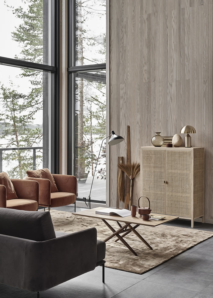 A Scandinavian home with lots of texture / Una casa estilo escandinavo con mucha textura