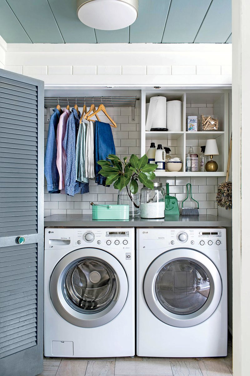 15 small laundry room ideas / 15 ideas para un cuarto de lavado chiquito - Casa Haus Decor